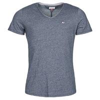 material Men short-sleeved t-shirts Tommy Jeans TJM SLIM JASPE V NECK Marine