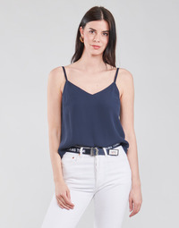 material Women Blouses Tommy Jeans TJW CAMI TOP Marine