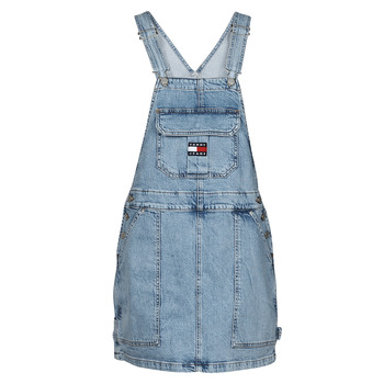material Women Jumpsuits / Dungarees Tommy Jeans CARGO DUNGAREE DRESS TJLLBC Blue / Clear