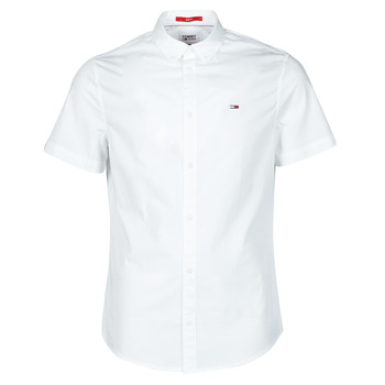 material Men short-sleeved shirts Tommy Jeans TJM LIGHTWEIGHT TWILL S/S SHIRT White