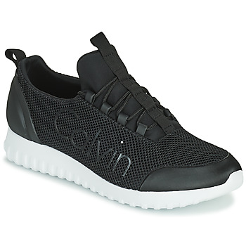 Shoes Men Low top trainers Calvin Klein Jeans RUNNER SNEAKER LACEUP MESH Black