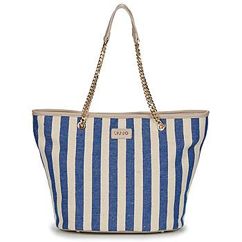 Bags Women Shopper bags Liu Jo SICURA XL TOTE Beige / Blue