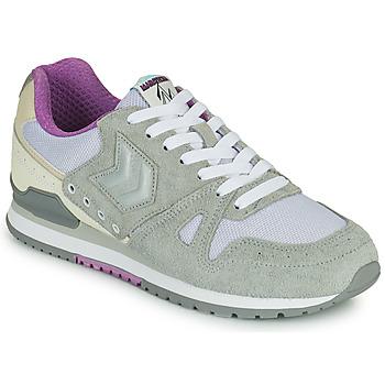 Shoes Women Low top trainers Hummel MARATHONA SUEDE Grey / Violet