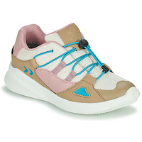 Shoes Children Low top trainers Hummel BOUNCE RUNNER TEX JR Beige / Pink