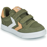 Shoes Children Low top trainers Hummel STADIL LOW JR Green