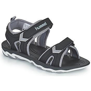Shoes Children Sports sandals Hummel SANDAL SPORT JR Black