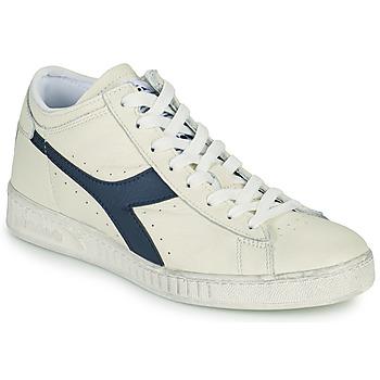 Shoes High top trainers Diadora GAME L WAXED ROW CUT White / Blue