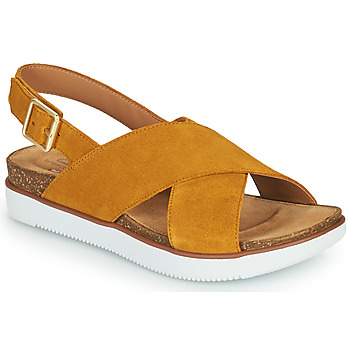 Shoes Women Sandals Clarks ELAYNE CROSS Mustard
