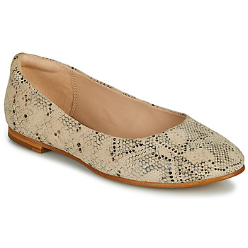 Shoes Women Ballerinas Clarks GRACE PIPER Beige / Python
