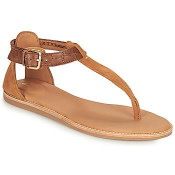 Shoes Women Sandals Clarks KARSEA POST Brown / Camel
