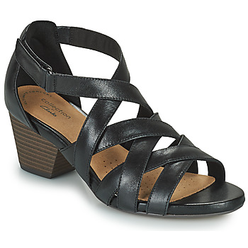 Shoes Women Sandals Clarks LORENE POP Black