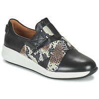 Shoes Women Low top trainers Clarks UN RIO STRAP Black