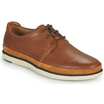 Shoes Men Derby shoes Clarks BRATTON LACE Brown