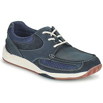 Shoes Men Low top trainers Clarks LANGTON LANE Blue