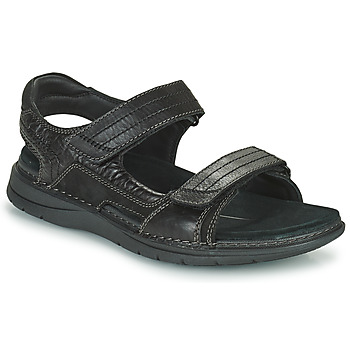 Shoes Men Sports sandals Clarks NATURE TREK Black