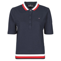 material Women short-sleeved polo shirts Tommy Hilfiger REGULAR GLB STP POLO 1/2 SLV Marine