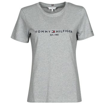 material Women short-sleeved t-shirts Tommy Hilfiger TH ESS HILFIGER C-NK REG TEE SS Grey