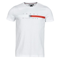 material Men short-sleeved t-shirts Tommy Hilfiger GLOBAL STRIPE CHEST TEE White