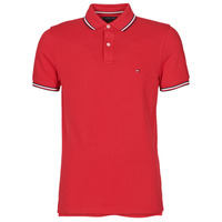 material Men short-sleeved polo shirts Tommy Hilfiger TOMMY TIPPED SLIM POLO Red