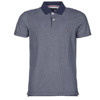 material Men short-sleeved polo shirts Tommy Hilfiger MICRO PRINT SLIM POLO Blue