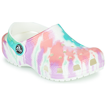 Shoes Girl Clogs Crocs CLASSIC TIE DYE GRAPHIC CLOG K White / Pink