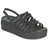 Shoes Women Sandals Crocs CROCS BROOKLYN STRAPPY LOWWDGW Black