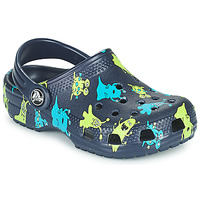 Shoes Boy Clogs Crocs CLASSIC MONSTER PRINT CLOG T Blue