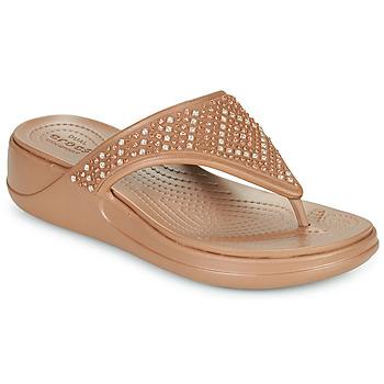Shoes Women Flip flops Crocs CROCS MONTEREY SHIMMER WGFPW Bronze
