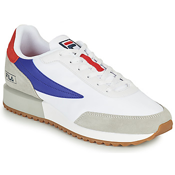 Shoes Men Low top trainers Fila RETRONIQUE White / Blue / Red