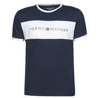 material Men short-sleeved t-shirts Tommy Hilfiger CN SS TEE LOGO FLAG Marine / White