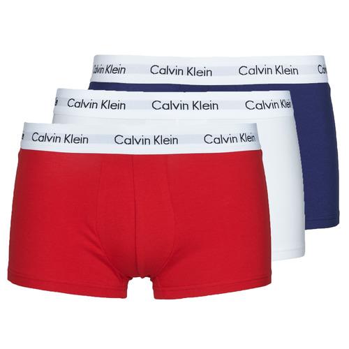 Underwear Men Boxer shorts Calvin Klein Jeans RISE TRUNK X3 Marine / White / Red
