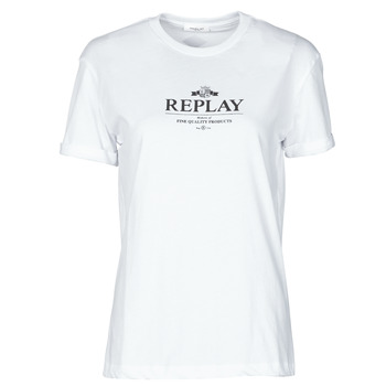 material Women short-sleeved t-shirts Replay  White