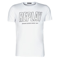 material Men short-sleeved t-shirts Replay M3395-2660 White