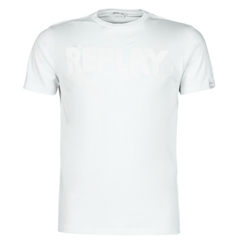 material Men short-sleeved t-shirts Replay M3409-23156G White
