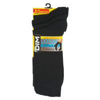Accessorie Men Socks DIM MI CHAUSSETTE COTON X4 Black