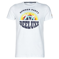 material Men short-sleeved t-shirts Deeluxe PARTY White / Multicolour