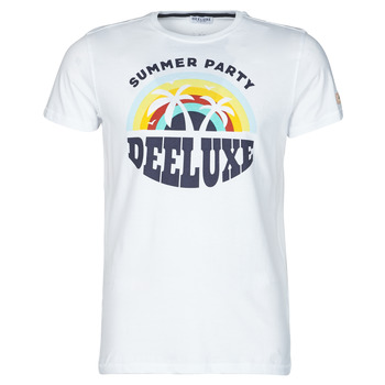 material Men short-sleeved t-shirts Deeluxe PARTY TS M m+ White / Multicolour