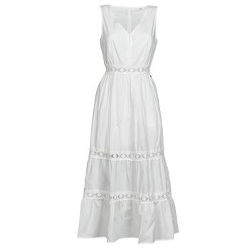 material Women Short Dresses Deeluxe MAEL Ecru