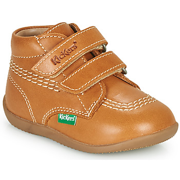 Shoes Boy High top trainers Kickers BILLY VELK-2 Camel