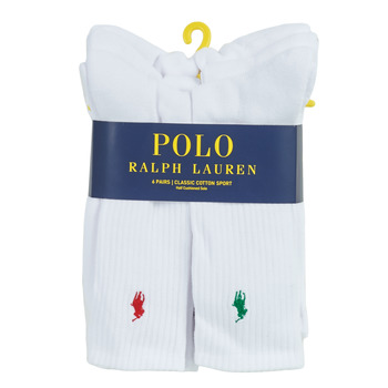 Accessorie Men Socks Polo Ralph Lauren ASX110 6 PACK COTTON White