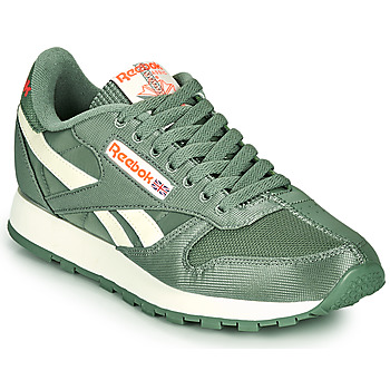 Shoes Low top trainers Reebok Classic CL LTHR Kaki / White