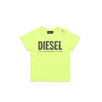 material Children short-sleeved t-shirts Diesel TJUSTLOGOB Green