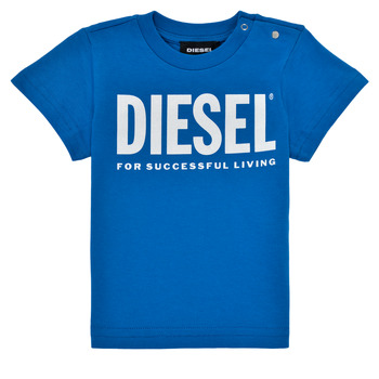 material Boy short-sleeved t-shirts Diesel TJUSTLOGOB Blue