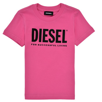 material Girl short-sleeved t-shirts Diesel TJUSTLOGOB Pink