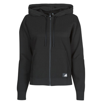 material Women sweaters adidas Performance W Knit V Hoodie Black