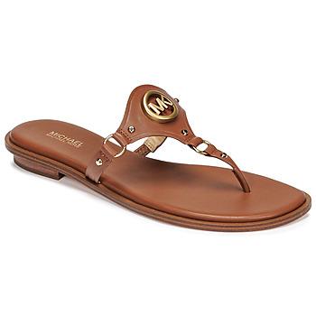 Shoes Women Flip flops MICHAEL Michael Kors CONWAY SANDAL Cognac