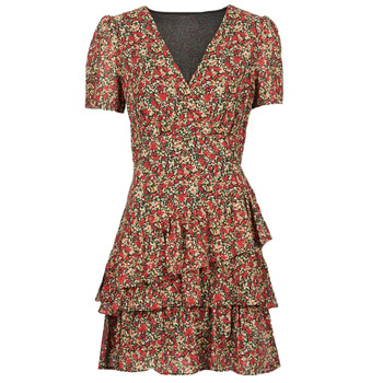 material Women Short Dresses Moony Mood ORNAMA Red