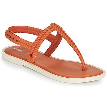 Shoes Women Flip flops Melissa FLASH SANDAL & SALINAS Orange / Beige
