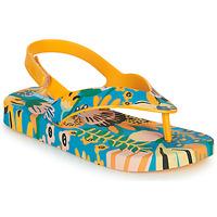 Shoes Children Flip flops Melissa MINI MELISSA & IPANEMA Yellow / Blue