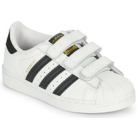 Shoes Children Low top trainers adidas Originals SUPERSTAR CF C White / Black